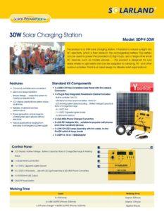 30W Solar Charging Station
